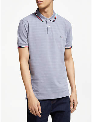 Tommy Hilfiger Tonal Texture Polo Shirt, Grey