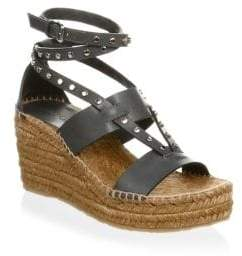 Jimmy Choo Studded Wedge Espadrilles
