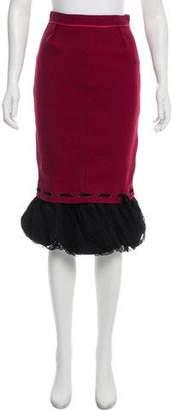 Louis Vuitton Wool Midi Skirt w/ Tags
