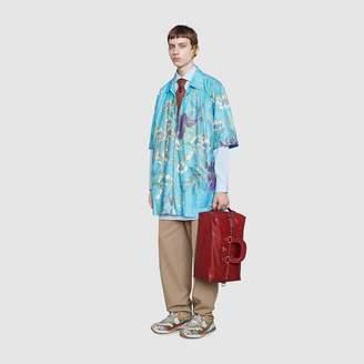 Gucci Oversize paper effect bowling shirt