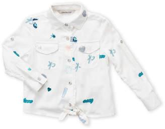 Calvin Klein Toddler Girls) Allover Printed Top