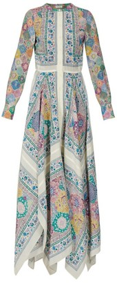 Altuzarra Tamourine Asymmetric Printed Gown - Womens - Multi