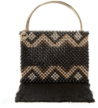 Rosantica By Michela Panero - Janice Zigzag Beaded Clutch - Womens - Black Multi