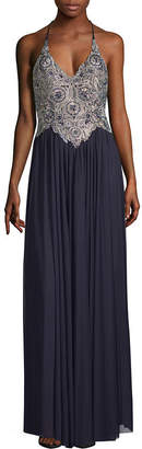 My Michelle Sleeveless Embellished Evening Gown-Juniors