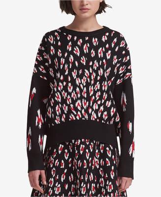 DKNY Leopard-Print Sweater