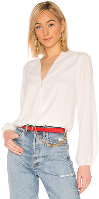 Bobi BLACK Date Night Chiffon Wrap Blouse