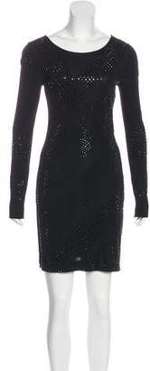 Haute Hippie Embellished Bodycon Dress