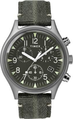 Timex R) MK1 Chronograph Fabric Strap Watch, 42mm