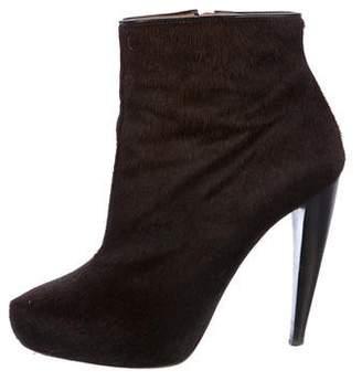 Maison Margiela Ponyhair Round-Toe Ankle Boots