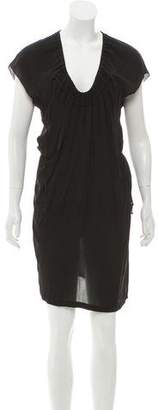 Stella McCartney Silk Cap Sleeve Dress