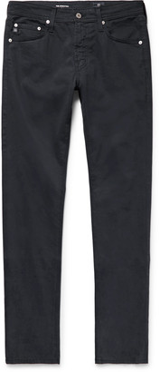 AG Jeans Stockton Skinny-Fit Brushed Stretch-Cotton Trousers - Men - Blue