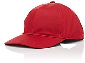Prada Women's Logo Twill Baseball Cap-Red