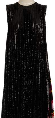 MSGM Glitter dress with scarf detail