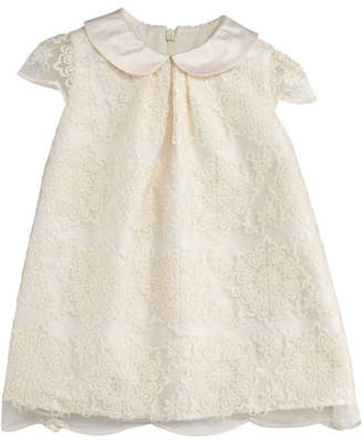 Luli & Me Scalloped Lace A-Line Dress, Size 12-24 Months