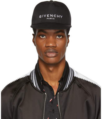 Givenchy Black Logo Flat Peak Cap