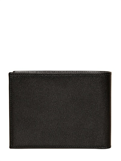 Dolce & Gabbana Metal Logo Leather Wallet
