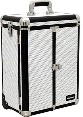 Sunrise Del Cristo Heavy Duty Rolling Makeup Case Professional Nail Travel Organizer Box