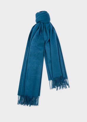 Paul Smith Teal Large Cashmere Scarf