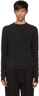 Isabel Benenato Grey Merino Sweater $545 thestylecure.com