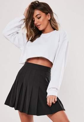 Missguided Black Pleated Mini Skirt