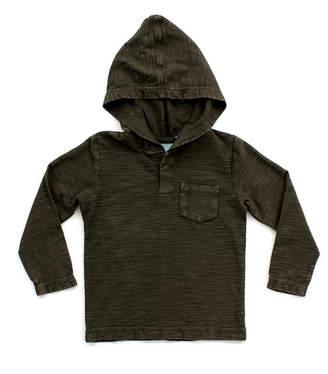 49ec7edd Toddler Boy Mineral Wash Long Sleeve Henley Hood Tee