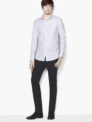 John Varvatos Micro Stripe Stand Collar Shirt