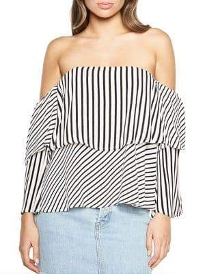 Bardot Darby Tiered Bustier Top