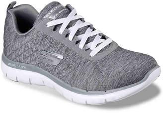 8b6a8086160 Skechers Flex Appeal 2.0 Sneaker -White Silver - Women s