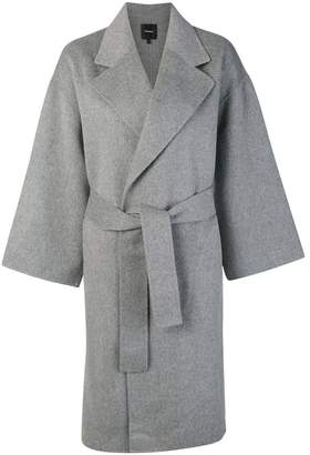 Theory belted single breasted coat