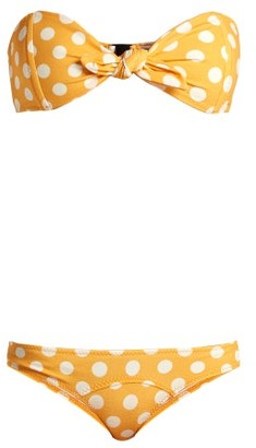 Lisa Marie Fernandez Poppy Strapless Bandeau Bikini - Womens - Orange Multi