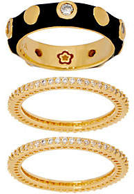 Ralph Lauren G. Adams G Adams Enamel Stud Motif Set of 3Stack Rings
