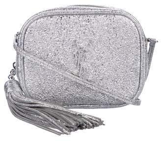 Saint Laurent Glitter Monogram Blogger Bag