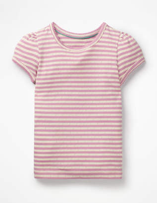 Boden Short-sleeved Pointelle Top