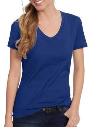 Hanes Women's Lightweight Short Sleeve V-neck T Shirt