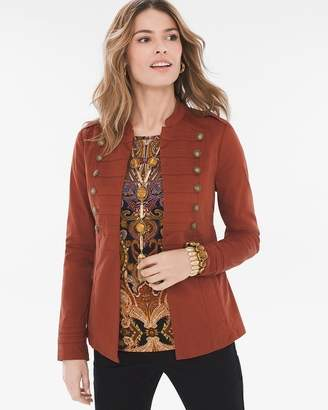Chico's Chicos Sateen Military Jacket