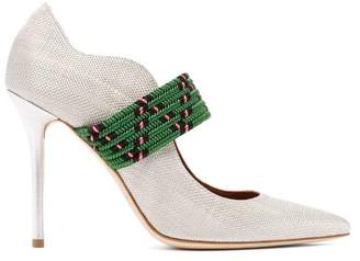 Malone Souliers By Roy Luwolt - Mannie Woven Pumps - Womens - Silver Multi