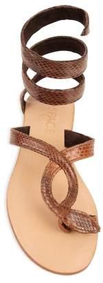 Cocobelle Snake-Embossed Wrap Sandal