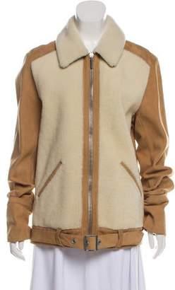 Balenciaga Belted Shearling Jacket