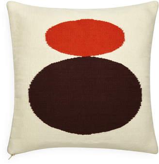 Jonathan Adler Reversible Orange/Chocolate Mother/Child Pop Throw Pillow