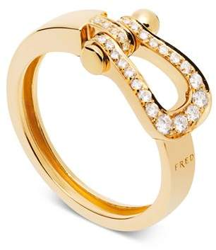 Fred 18K Yellow Gold Force 10 Diamond Medium Ribbon Ring