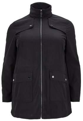 Evans Black Zip Trim Coat