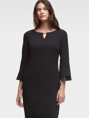 DKNY Trumpet-Sleeve Sheath Dress
