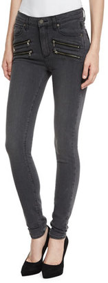 Paige Denim Edgemont Ultra-Skinny High-Rise Jeans, Smoke Gray $239 thestylecure.com