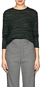 Proenza Schouler Women's Tiger-Pattern Cotton T-Shirt - Grn. Pat.