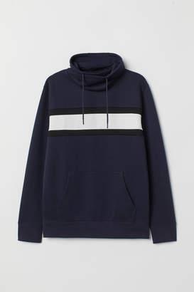 H&M Chimney-collar Sweatshirt - Blue