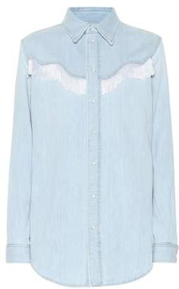 1a7f365ba6 Denim Shirt Fringe - ShopStyle