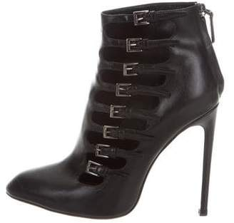 Alaia Leather Buckle Booties