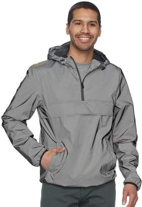 X-Ray Xray Men's XRAY Reflective Hooded Quarter-Zip Pullover Jacket