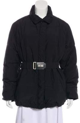 Post Card Quilted Zip-Up Jacket