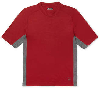 Ermenegildo Zegna Mesh-Panelled Techmerino Wool T-Shirt